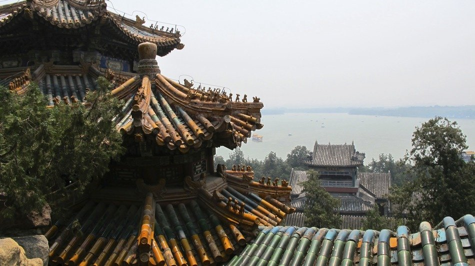 roof view of summer palace, china, Beijing