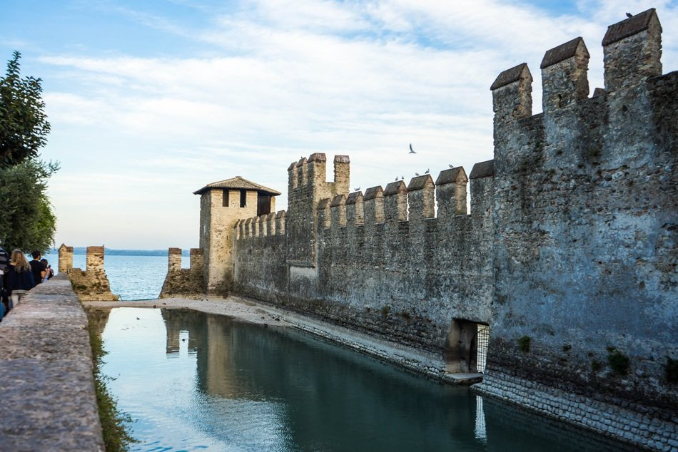 scaliger castle lake garda sirmione italy water