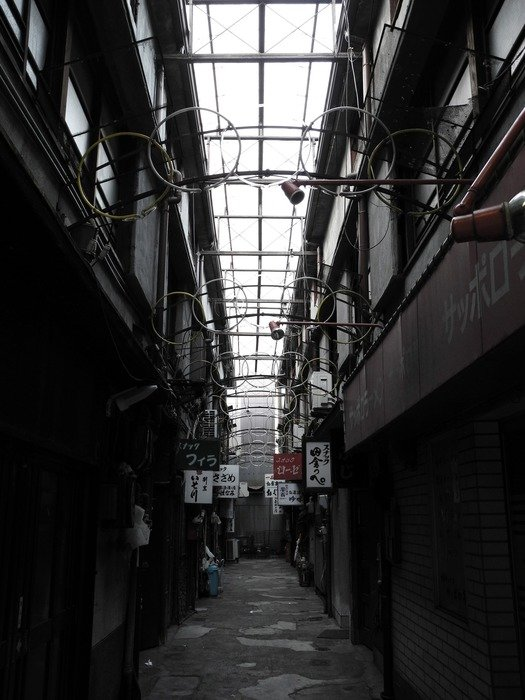 dirty shop street, nobody, japan, gifu, yanagase