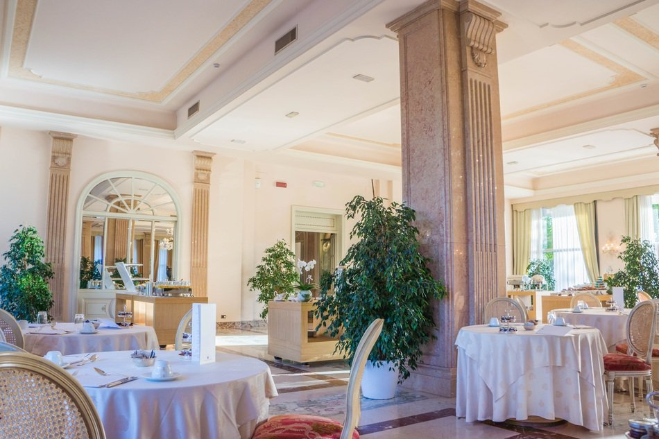 villa cortine palace breakfast restaurant ancient