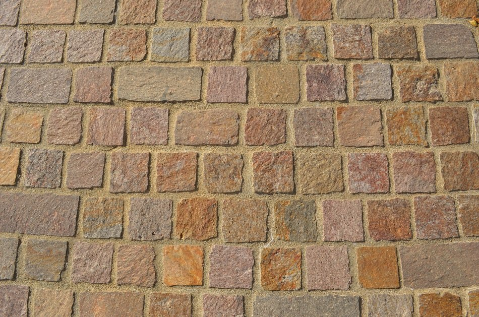 brown paving stones, background