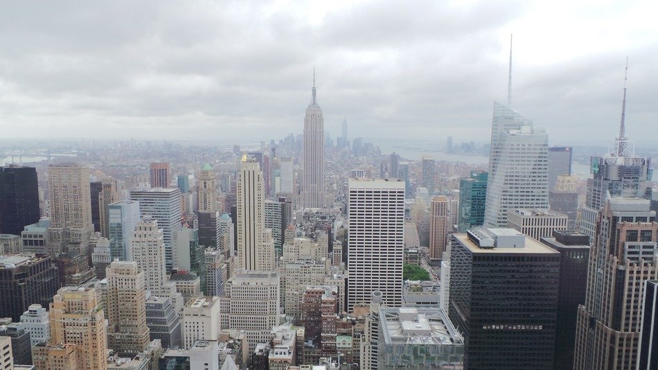 panorama of new york empire state building