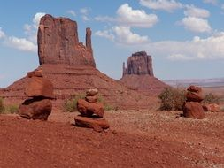 red rock formation in desert, usa, utah, arizona, monument valley