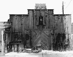 wild west style wooden building