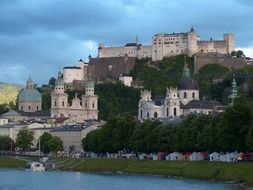 Fortress Hohensalzburg is a real eye-catcher peaking out high above the baroque towers of the city