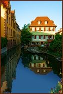 france chanal house Reflection on water river