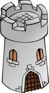 medieval stone tower, illustration
