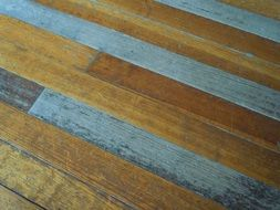 weathered wooden flooring boards