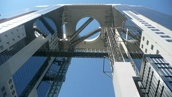 low angle view of Umeda Sky Building, japan, osaka