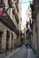old city alley, spain, barcelona