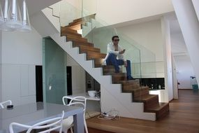 seating modern home model man sunglasses cool view
