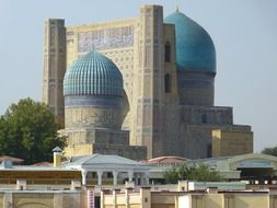 Bibi Khanum Mosque is a mosque in Samarkand, Uzbekistan.