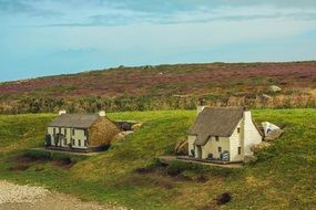 land's end, old village houses at wilderness, uk, england, Cornwall