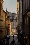 the Stockholm old town alley Sweden
