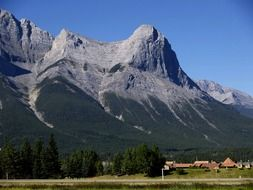 town at scenery rocky mountains, canada, alberta, canmore