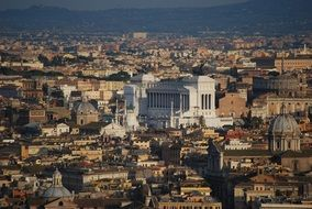 city from Saint Peter Basilica Viewpoint, italy, rome