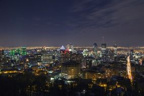 montreal city urban night lights Canada