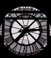clock window, france, paris, notre-dame cathedral