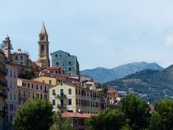 ventimiglia old town roofs city view