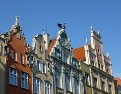 top of old building at sky, poland, gdansk