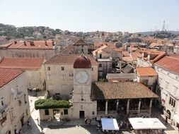roof view of old town, croatia, trogir