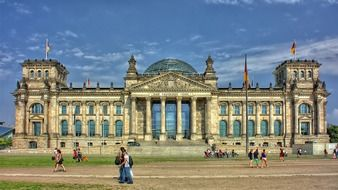 people at reichstag building, germany, berlin