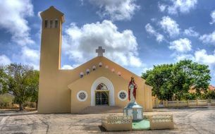 Empty church in curacao