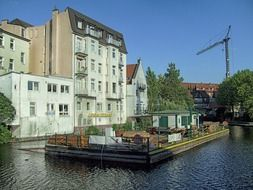 old buildings at water, germany, hamburg, Bergedorf