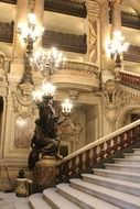 beautiful staircase of Paris Opera House, france