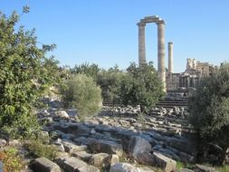 ruins of ancient apollo temple, turkey, didim