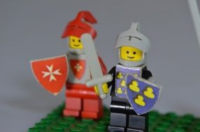 Colorful knights from Lego