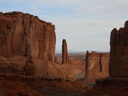 scenic rock formations at evening in monument valley, usa, utah