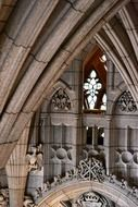 interior of gothic cathedral, fragment, canada, ottawa