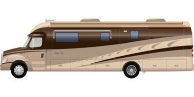 mobile home, camper, side view