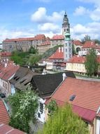 roof view of old town, czech republic, krumlov