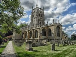 old cemetery at medieval St Mary\'s Church, uk, england, fairford