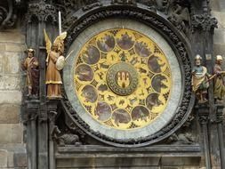 old town city clock, czech, prague