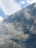 image of clouds in the windows of a skyscraper