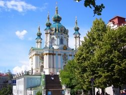 st andrew's orthodox cathedral at summer, ukraine, kiev