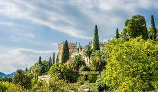 architecture of isola del garda lake italy