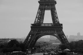 moody eiffel tower Paris France