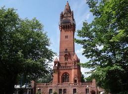 grunewaldturm, Brick Gothic tower, germany, berlin