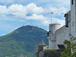 Hohensalzburg Castle sits atop the Festungsberg