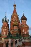 orthodox Saint Basil\'s Cathedral at sky, russia, moscow
