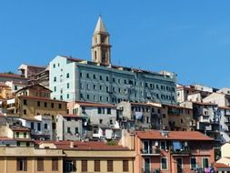 ventimiglia cathedral old town roofs