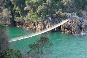 suspension bridge across Storms River, south africa, Tsitsikamma