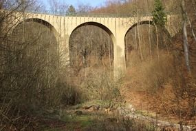 old bridge viaduct railway nature