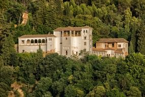 The Palacio de Generalife was the summer palace and country estate of the Nasrid rulers of the Emirate of Granada in Al-Andalus