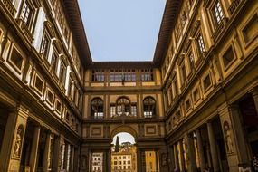 square among city buildings in florence