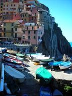 colorful city cinque terre italy